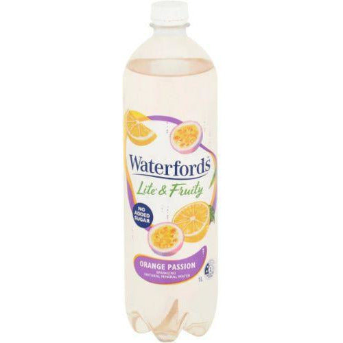 Waterfords Orange Passionfruit Sparkling Mineral Water 1L