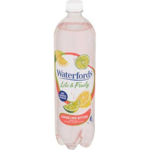 Waterfords Lemon Lime Bitters Sparkling Mineral Water 1L