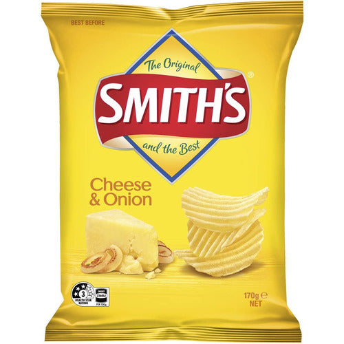 Smith's Crinkle Cut Cheese & Onion 170g