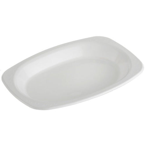 160x230 Oval Plate Small White 50pk
