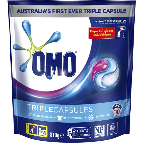 Omo Laundry Liquid Triple Capsules Active 30 pack