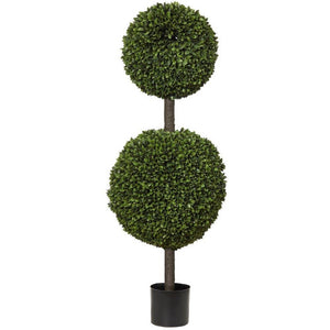 120cm Box Leaf Double Topiary