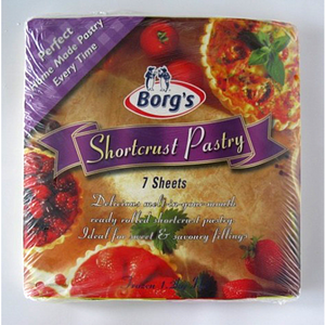 Borg's Shortcrust Pastry 1.2kg 7 Sheets