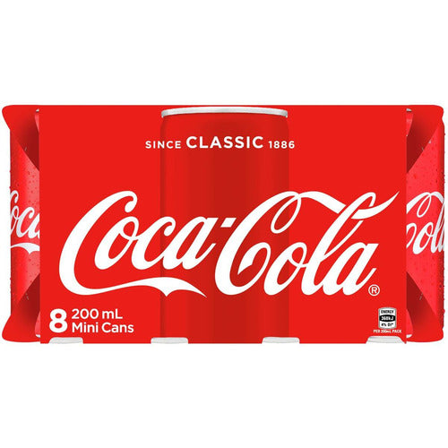 Coca Cola Classic Coke Mini Cans 200ml - 8pkt
