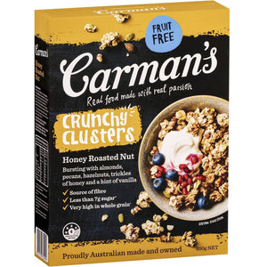 Carmans Clusters 500g - Honey Roasted Nut