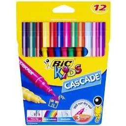 Bic Stationery - Cascade Coloured Texta 12 Pk