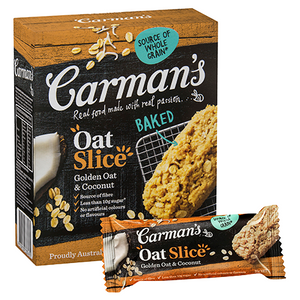 Carmans Oat Slice 6pk - Golden Oat & Coconut