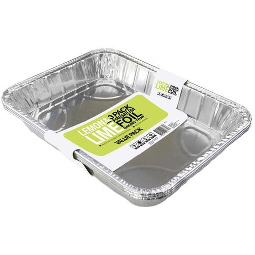 45x34x6.5 Large Foil Tray - Pack 3