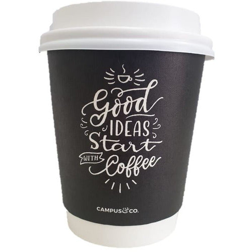 Campus&Co. 8oz Disposable Double Wall Coffee Cup - Chalk