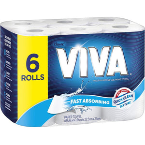 Viva Paper Towel Regular White 6pk