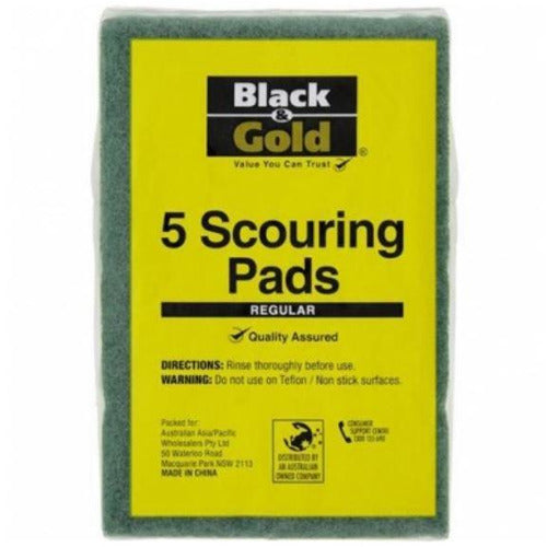 Black & Gold Scouring Pads 5 pk