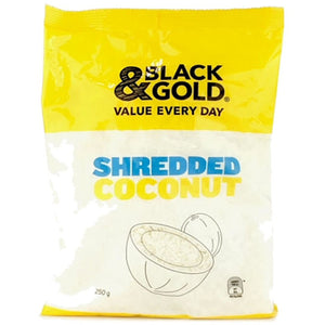 Black & Gold Shredded Coconut 250g