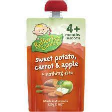 Rafferty's Garden Smooth 4 Mths+ 120gms - Sweet Potato, Carrot, Apple