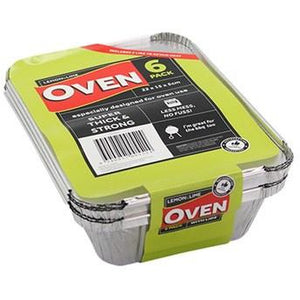 Foil Containers with Lids - 22x15x5 6pk