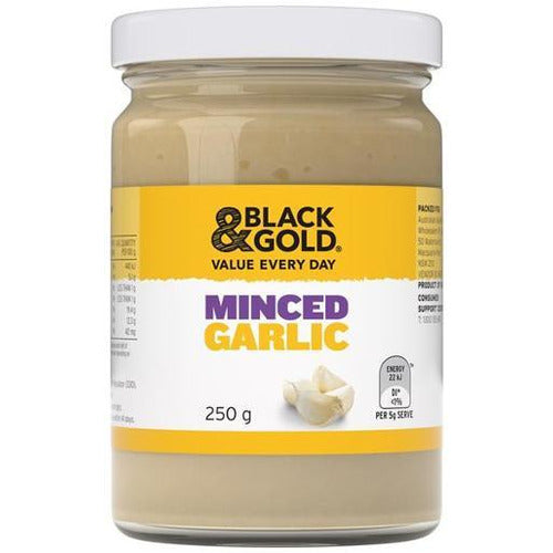Black & Gold Minced Garlic 250g