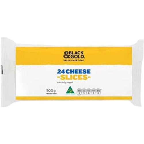 Black & Gold Individually Wrapped Cheese Slices - 24 pack