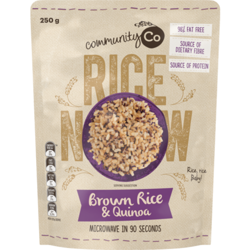 Community Co Microwave Brown Rice & Quinoa 250g