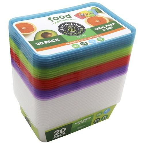 750ml Prep & Sort Food Containers - Pack 20