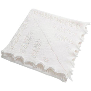 Nottingham Lace Knitted Baby Shawl - Prince Louis