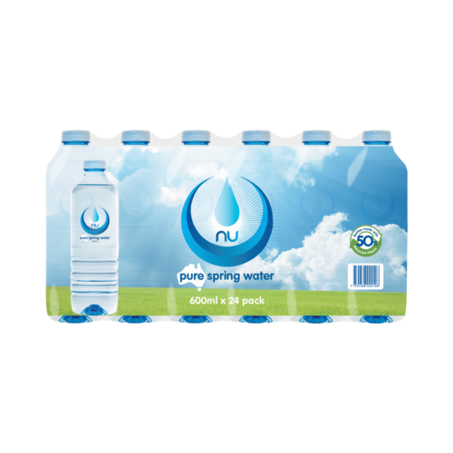 Nu Pure Water 600ml x 24