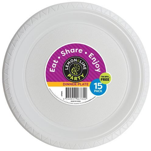 Disposable Dinner Plates 15pk