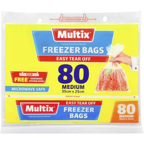 Multix Tear Off Freezer Bags - Medium 80