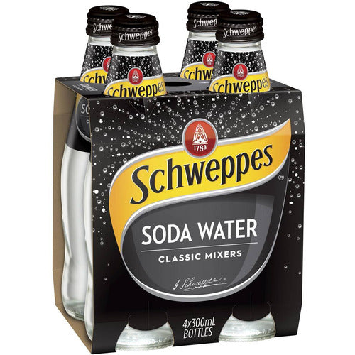 Schweppes 300ml 4pk - Soda Water