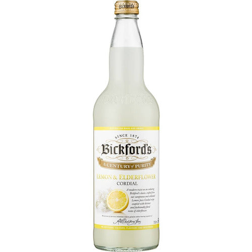 Bickfords Cordial 750ml - Lemon Elderflower