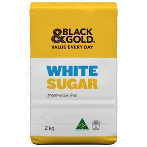 Black & Gold White Sugar 2kg