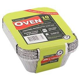 Foil Containers with Lids - 15x12x4.5 10 pk