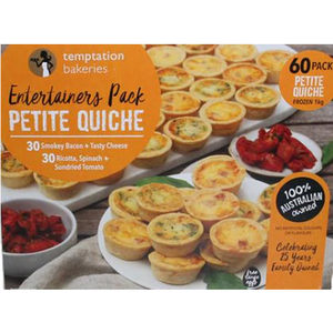 Temptation Petite Quiches Assorted x 60 (1kg)