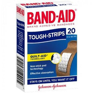 Band-Aid Tough Strips Waterproof Regular 20pk