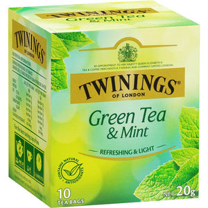 Twinings Tea Bags 10 pk - Green Tea & Mint