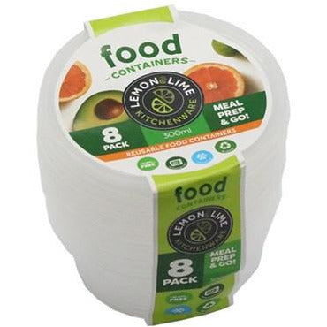 Disposable Food Containers - 300ml 8pk