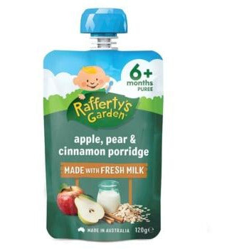 Rafferty's Garden Porridge 6 Mths+ 120gms - Apple, Pear, Cinnamon