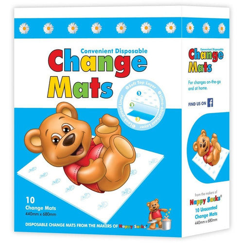 Nappy Sacks Change Mat 10pk