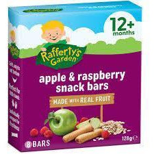 Rafferty's Fruit Snack Bar Apple & Raspberry 128g 12+