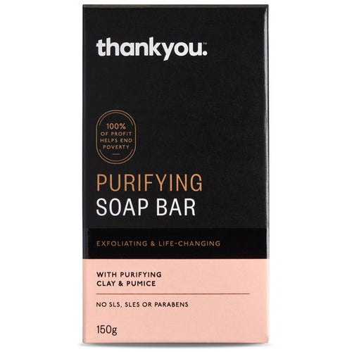 Thankyou Clay Soap Bar with Exfoliating Pumice 150g