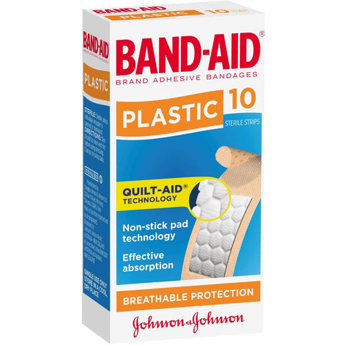 Band-Aid Plastic Strips 10pk