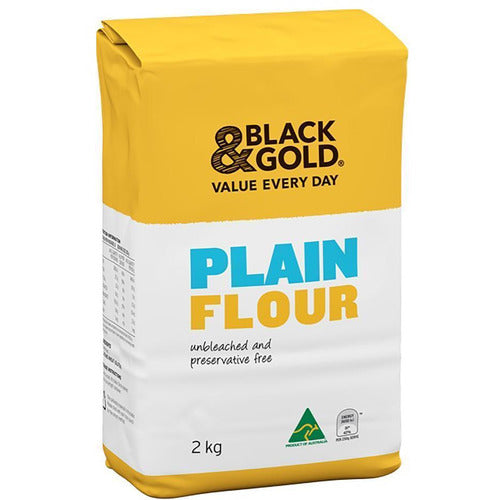 Black & Gold Plain Flour 2kg
