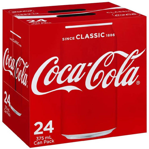 Coca Cola Classic Coke Multipack Cans 375mL - 24 pkt