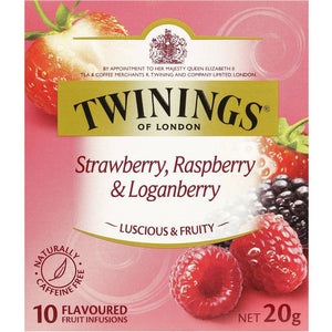 Twinings Tea Bags 10 pk - Strawberry, Raspberry