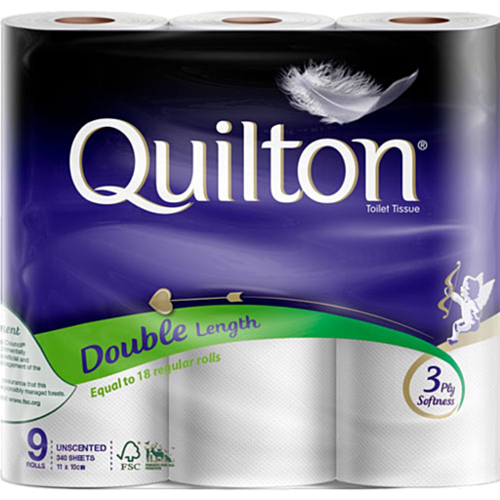 Quilton 3ply 9pk Double Length Toilet Tissue