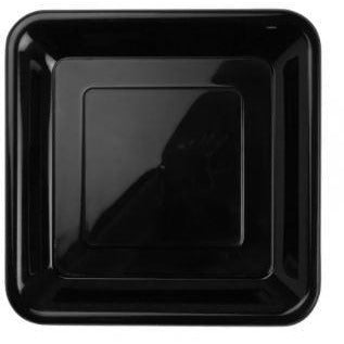 Black Square Snack Plates 20pk