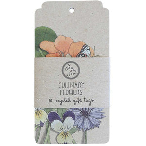 Culinary Flower Gift Tags - 10 Pack