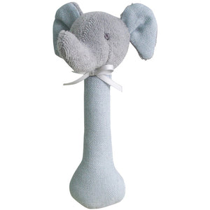 Elephant Stick Rattle Linen Grey