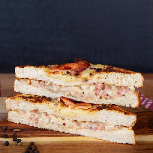 French Style (Croque) Chicken & Bacon Toasted Sandwich
