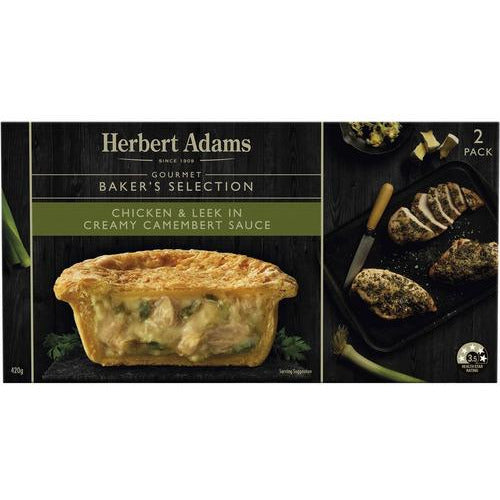 Herbert Adams Creamy Chicken & Leek Pie 210g