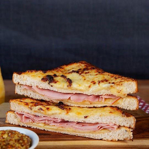 French Style (Croque) Ham & Cheese Toasted Sandwich