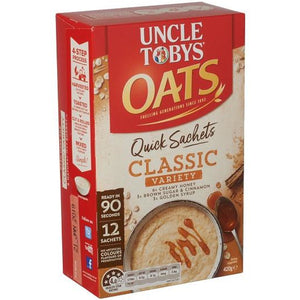 Uncle Toby's Oats Classic Variety 12 pk
